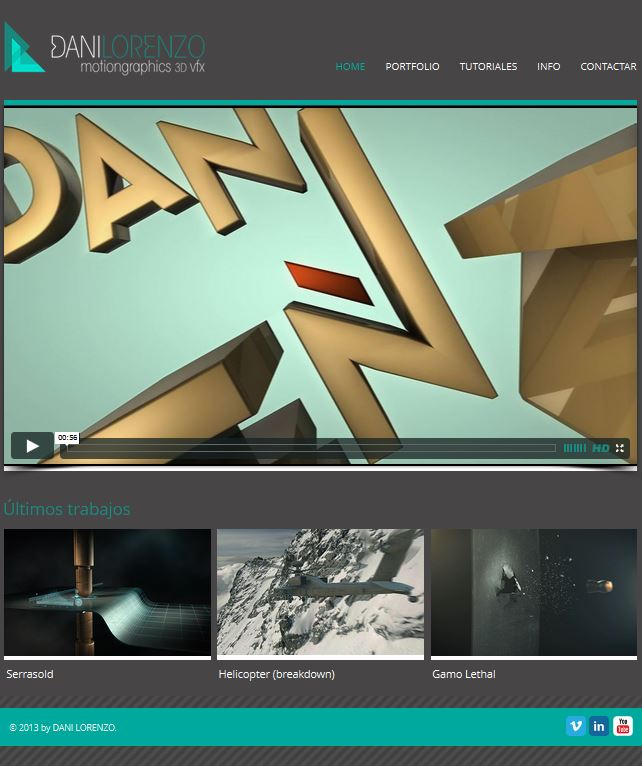 AudioVisual PostProductions – MotionGraphics 3D VFX – DANI LORENZO