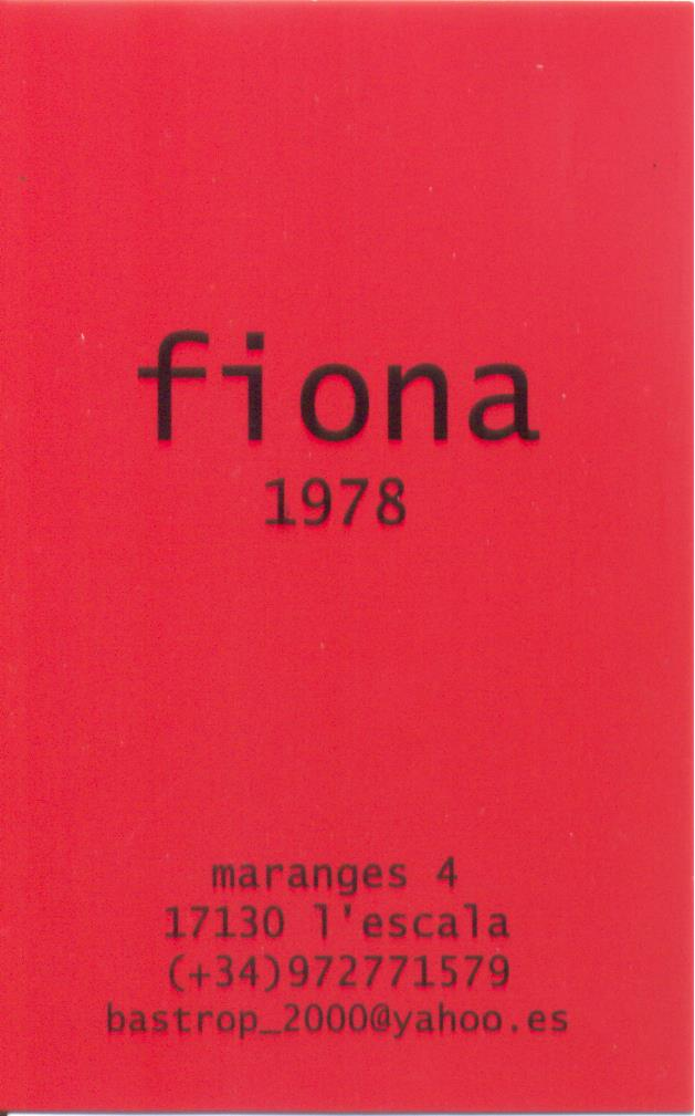 Bijoux in L'Escala – FIONA 1978